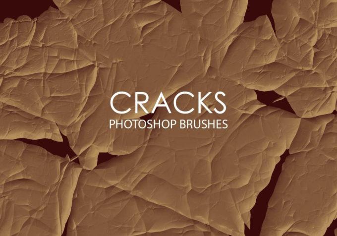 フォトショップ ブラシ Photoshop Brush 無料 イラスト クラック ひび割れ ヒビ 亀裂 Free Abstract Cracks Photoshop Brushes