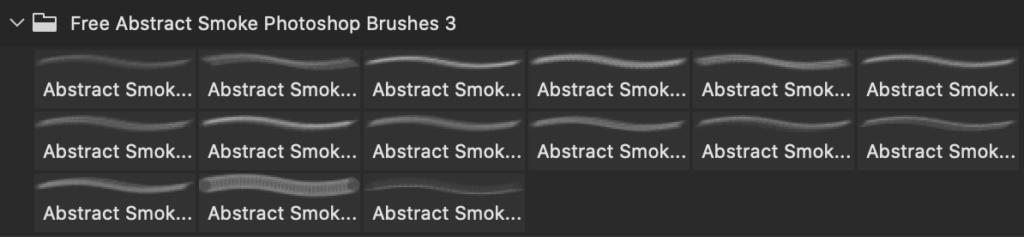 フォトショップ ブラシ Photoshop Brush 無料 イラスト 煙 スモーク Free Abstract Smoke Photoshop Brushes 3