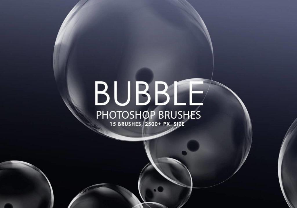 フォトショップ ブラシ Photoshop Brush 無料 イラスト 泡 バブル Free Bubble Photoshop Brushes