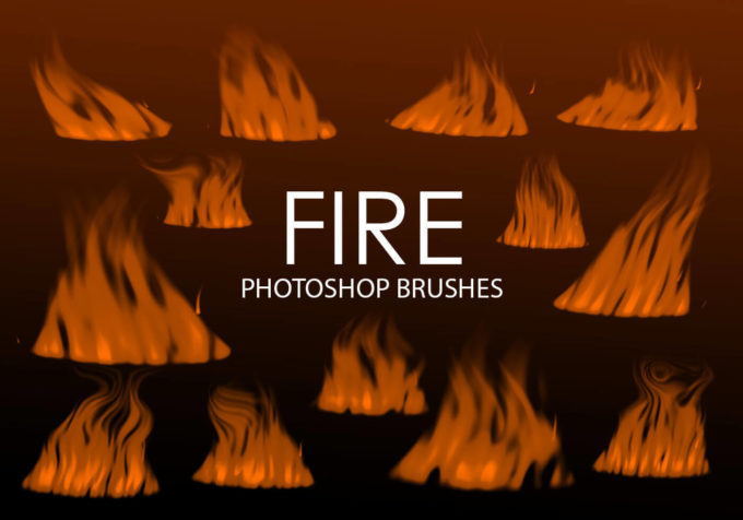 フォトショップ ブラシ Photoshop Brush 無料 イラスト 火 炎 ファイヤー Free Digital Fire Photoshop Brushes 2