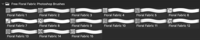 フォトショップ ブラシ Photoshop Brush 無料 Flower イラスト 花 フラワー フローラル Free Floral Fabric Photoshop Brushes