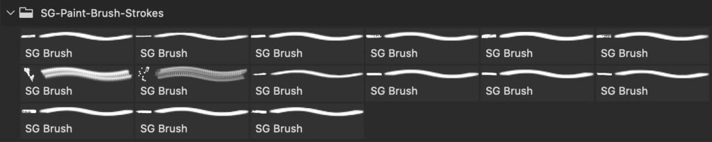フォトショップ ブラシ Photoshop Brush 無料 イラスト インク ペンキ Free Hi-Resolution Paint Stroke Photoshop Brushes