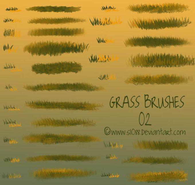 フォトショップ ブラシ Photoshop Brush 無料 イラスト 草 雑草 植物 葉 プランツ Free PS Grass Brushes 2