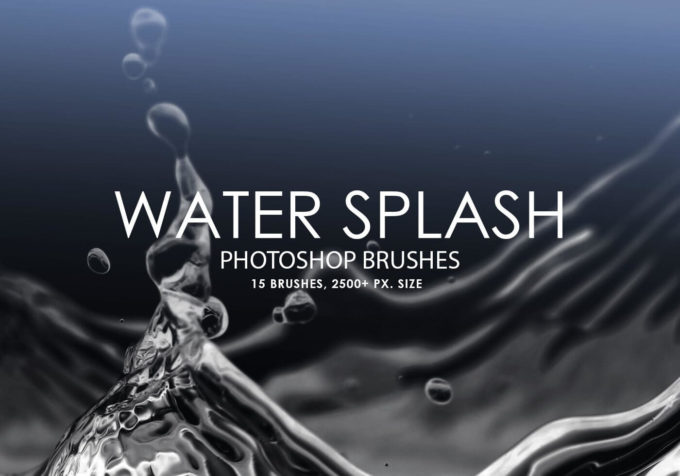フォトショップ ブラシ Photoshop Brush 無料 イラスト 水 ウォーター 水滴 スプラッシュ 水しぶき 20 Water Splash PS Brushes Abr