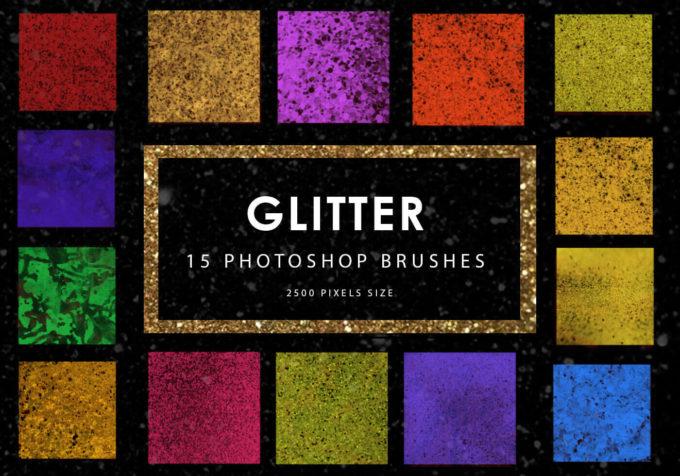 フォトショップ ブラシ Photoshop Brush 無料 イラスト グリッター 光 キラキラ Glitter Photoshop Brushes