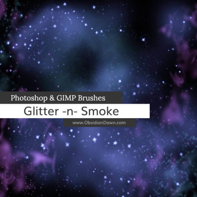 フォトショップ ブラシ Photoshop Brush 無料 雲 クラウド イラスト Glitter n Smoke Photoshop and GIMP Brushes