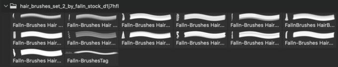 フォトショップ ブラシ 無料 毛 髪の毛 Hair Brushes Set 2