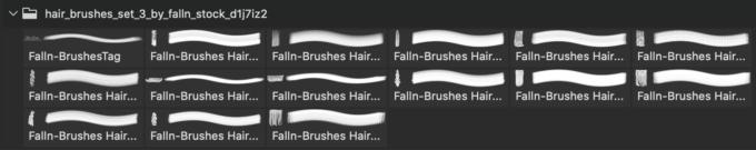 フォトショップ ブラシ 無料 毛 髪の毛 Hair Brushes Set 3