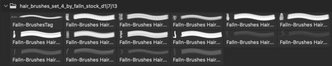 フォトショップ ブラシ 無料 毛 髪の毛 Hair Brushes Set 4