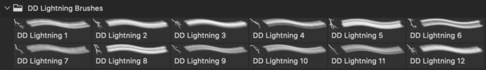 フォトショップ ブラシ Photoshop Brush 無料 Flower イラスト 雷 ライトニング 落雷 Hi Resolution Lightning Brushes