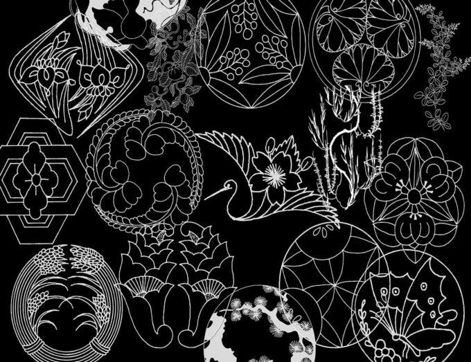 フォトショップ ブラシ Photoshop Japanese Brush 無料 イラスト 和 和風 和柄 Japanese Ornaments