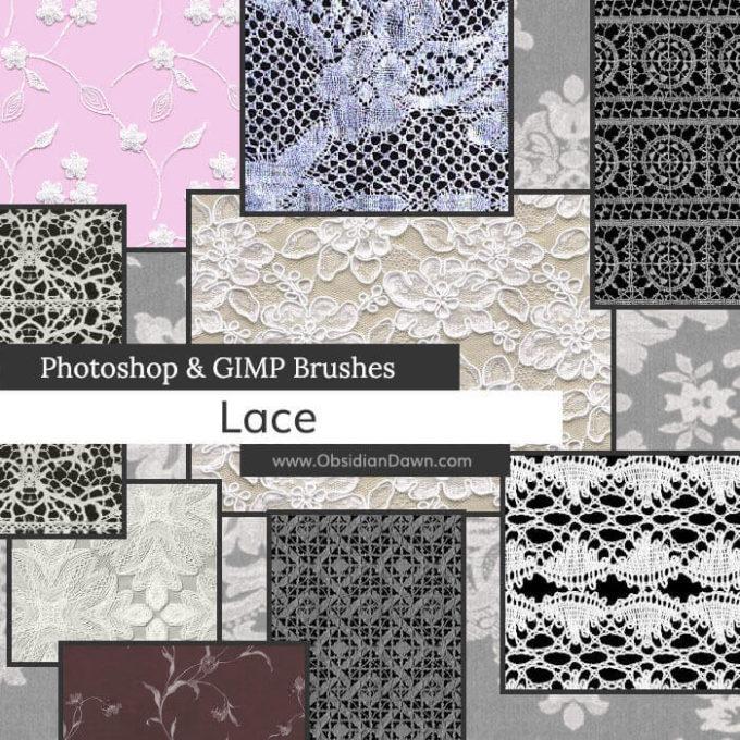 フォトショップ ブラシ Photoshop Lace Brush 無料 イラスト レースlace_photoshop_and_gimp_brushes_by_redheadstock_dog9t9