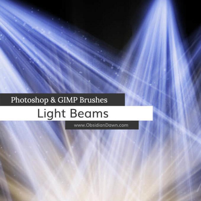 フォトショップ ブラシ Photoshop Brush 無料 イラスト 光 ビーム グリッター Light Beams + Rays Photoshop and GIMP Brushes