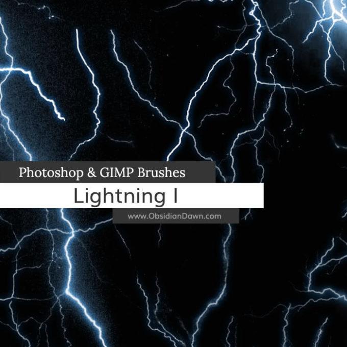 フォトショップ ブラシ Photoshop Brush 無料 イラスト 雷 ライトニング Lightning Photoshop and GIMP Brushes