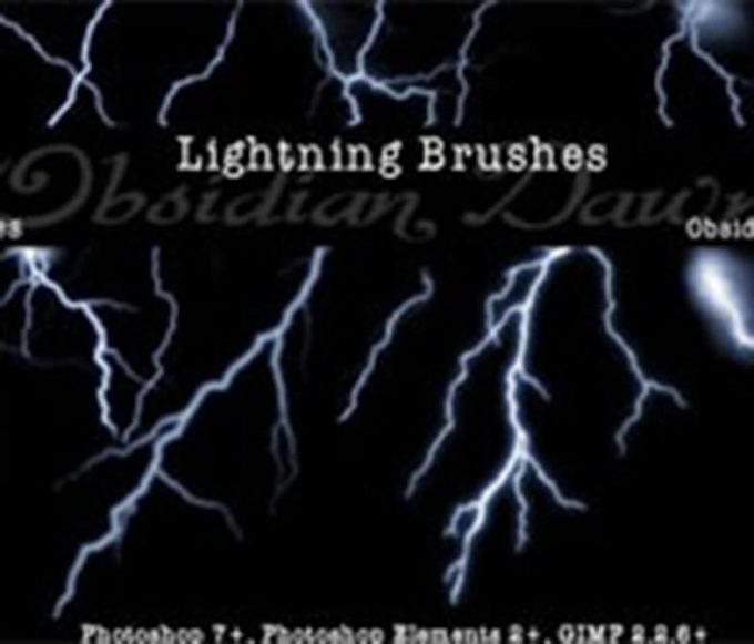 フォトショップ ブラシ Photoshop Brush 無料 Flower イラスト 雷 ライトニング 落雷 Lightning Photoshop Brushes