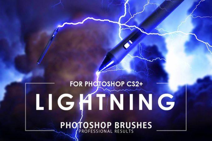 フォトショップ ブラシ Photoshop Brush 無料 イラスト 雷 ライトニング Lightning photoshop Brushes