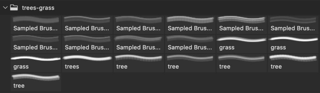 フォトショップ ブラシ Photoshop Brush 無料 イラスト 木 森 林 Nature Silhouettes Trees and Grass Brushes