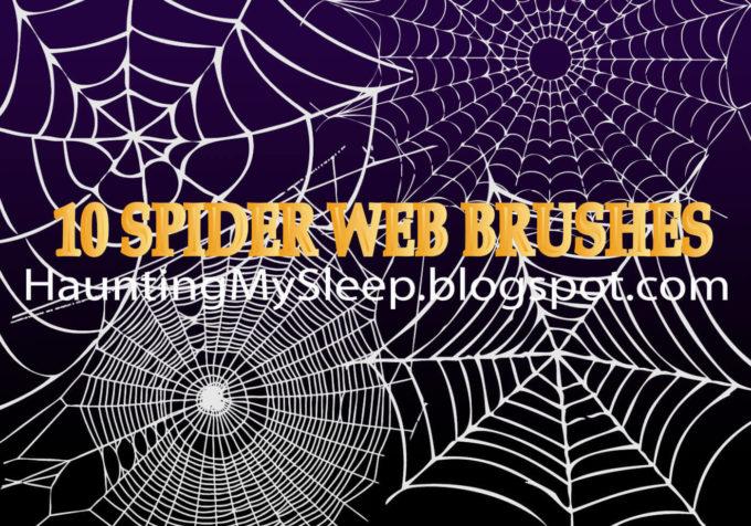 フォトショップ ブラシ Photoshop Brush 無料 クモ クモの巣 蜘蛛 スパイダー 10 Spider Web Brushes!