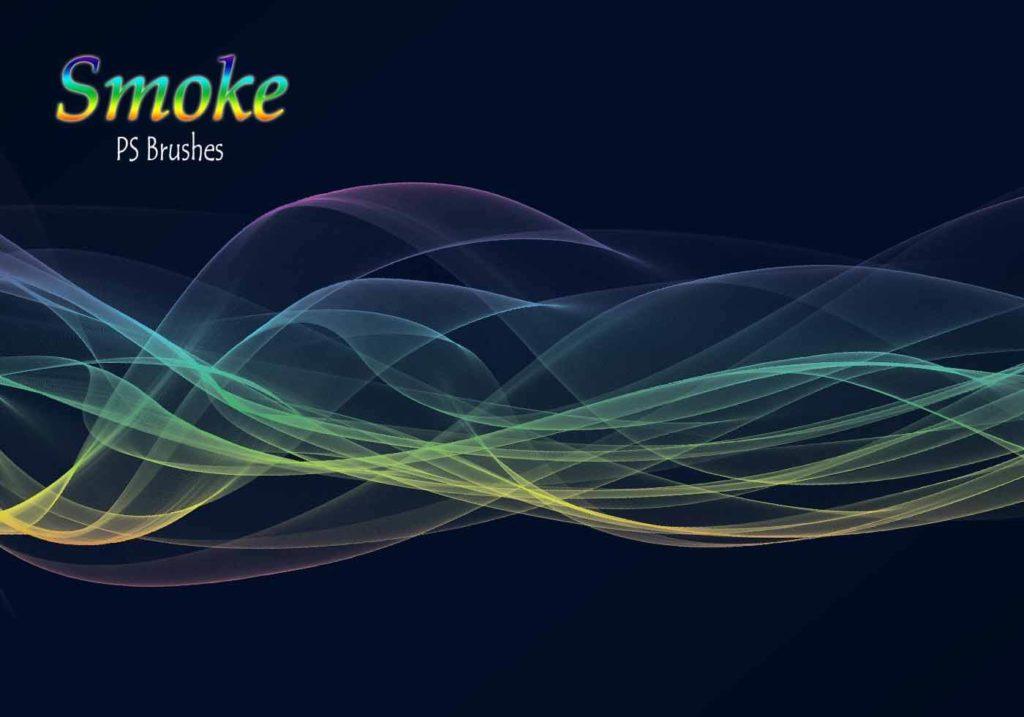 フォトショップ ブラシ Photoshop Brush 無料 イラスト 煙 スモーク 20 Smoke PS Brushes Abr. Vol.14
