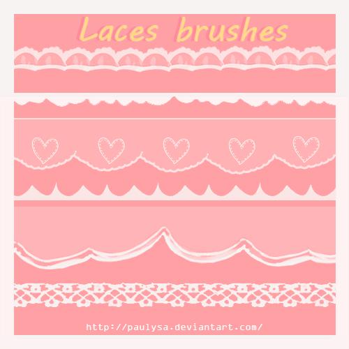 フォトショップ ブラシ Photoshop Lace Brush 無料 イラスト レース 6 laces brushes