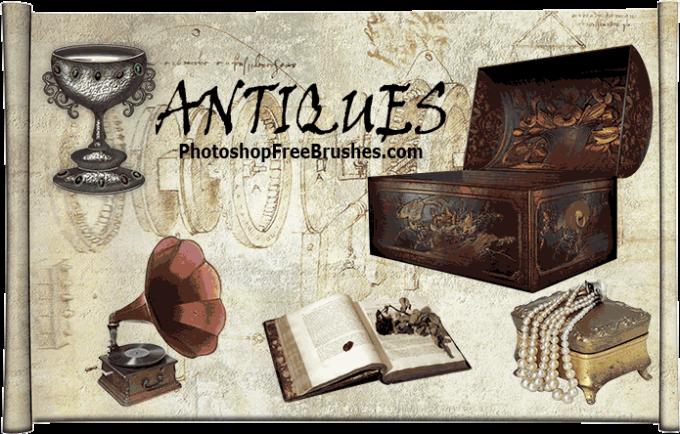 フォトショップ ブラシ Photoshop Retro Vintage Brush 無料 イラスト ヴィンテージ レトロ 家具 20 Antique Furniture Photoshop Brushes