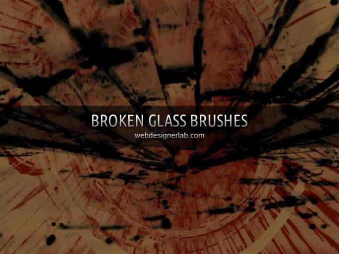 フォトショップ ブラシ Photoshop Brush 無料 イラスト クラック ひび割れ ヒビ 亀裂 ガラス Broken Glass Brushes