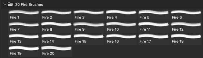 フォトショップ ブラシ Photoshop Brush 無料 イラスト 火 炎 ファイヤー 20 Fire Silhouette PS Brushes Abr.Vol.20