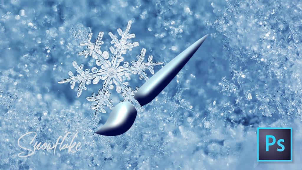 フォトショップ ブラシ Photoshop Crystal of snow Brush snowflake スノーフレーク 雪 結晶 無料 abr