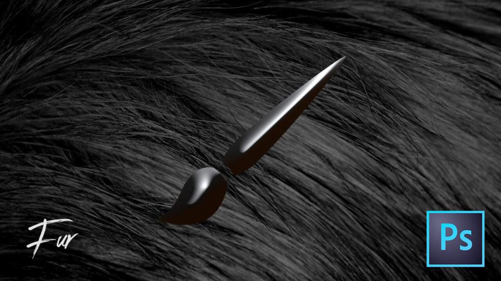 フォトショップ ブラシ Photoshop Fur Hair Brush 髪の毛 毛皮 無料 abr