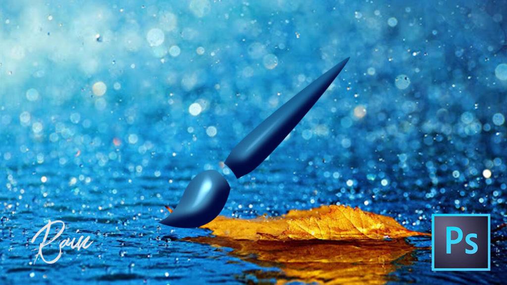 フォトショップ ブラシ Photoshop Rain Brush 雨 レイン 無料 abr