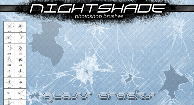 フォトショップ ブラシ Photoshop Brush 無料 イラスト クラック ひび割れ ヒビ 亀裂 壁 Nightshade glass cracks v2