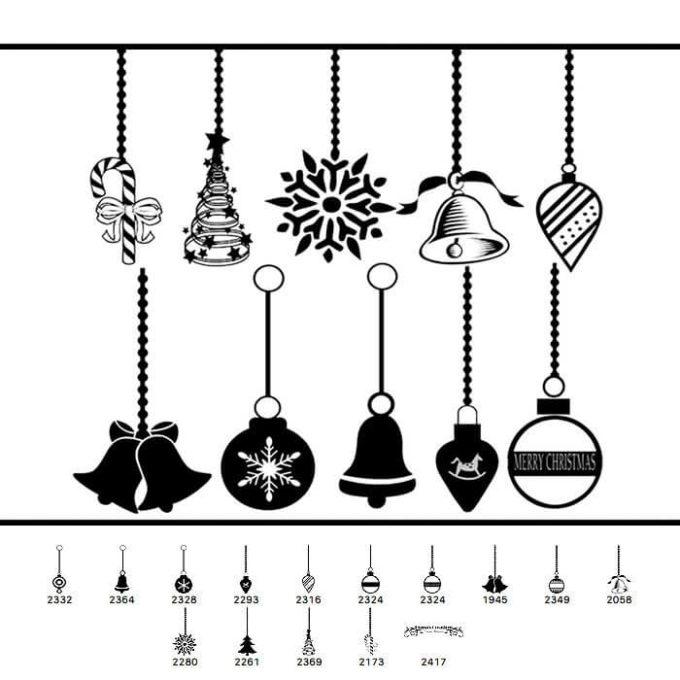 フォトショップ ブラシ Photoshop Brush 無料 イラスト クリスマス 聖夜 オーナメント 14 Christmas Ornament Brushes