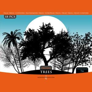 フォトショップ ブラシ Photoshop Brush 無料 イラスト 木 森 林 草木 TREES PROMO PACK