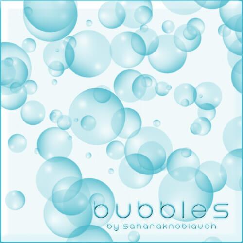フォトショップ ブラシ Photoshop Brush 無料 イラスト 泡 バブル .:Bubble Brushes:.