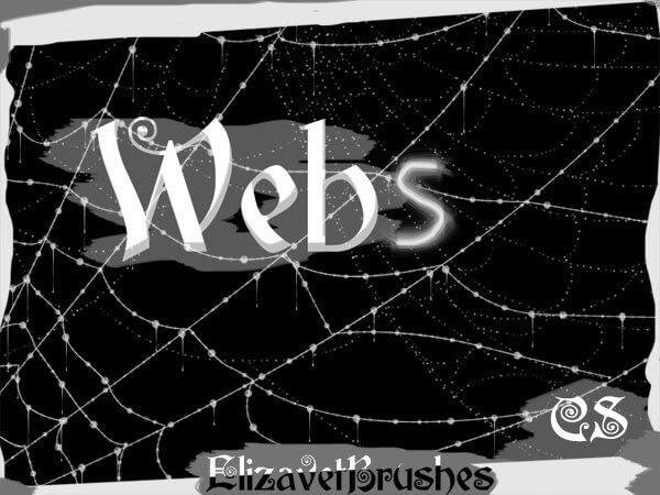 フォトショップ ブラシ Photoshop Brush 無料 クモ 蜘蛛 蜘蛛の巣 クモの巣スパイダー イラスト Just add a spider...