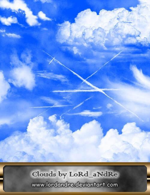 フォトショップ ブラシ Photoshop Brush 無料 イラスト 雲 クラウド Clouds