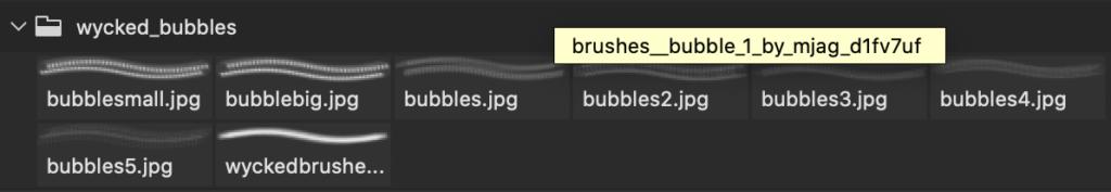 フォトショップ ブラシ Photoshop Brush 無料 イラスト 泡 バブル Bubble Brushes