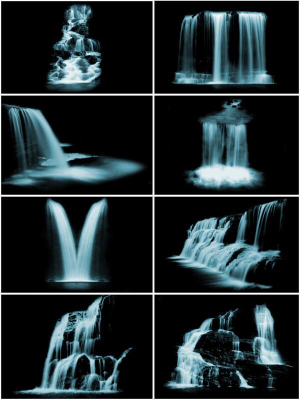 フォトショップ ブラシ Photoshop Brush 無料 水 ウォーター 滝 イラスト Waterfalls