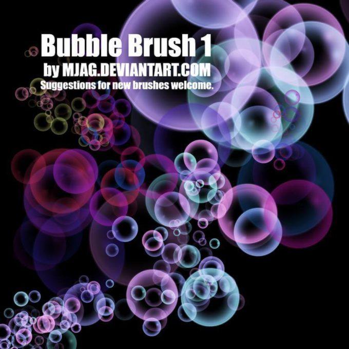 フォトショップ ブラシ Photoshop Brush 無料 イラスト 泡 バブル Brushes: BUBBLE 1