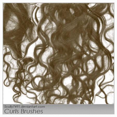 フォトショップ ブラシ 無料 毛 髪の毛 Curls