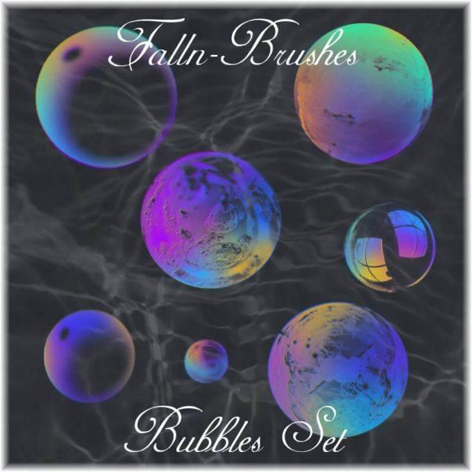フォトショップ ブラシ Photoshop Brush 無料 イラスト 泡 バブル Bubbles Brushes Set