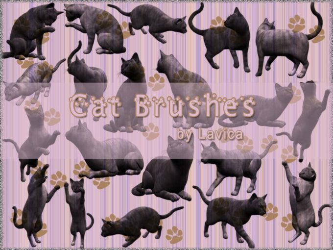 フォトショップ ブラシ Photoshop cat Kittie Brush 無料 イラスト 猫 キャット Cat Brushes