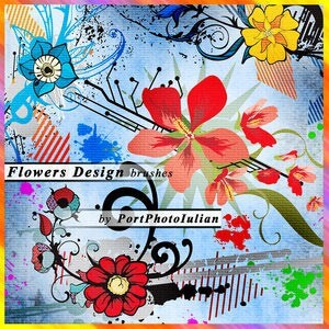 フォトショップ ブラシ Photoshop Brush 無料 Flower イラスト 花 フラワー Flower Designs