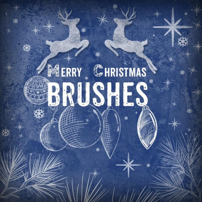 フォトショップ ブラシ Photoshop Brush 無料 イラスト クリスマス 聖夜 サンタ Free Christmas Brushes