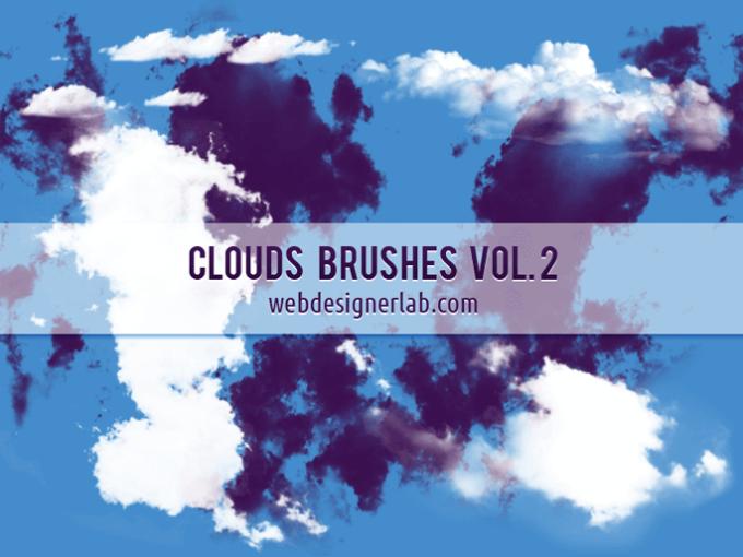 フォトショップ ブラシ Photoshop Brush 無料 イラスト 雲 クラウド Clouds Brushes Vol. 2