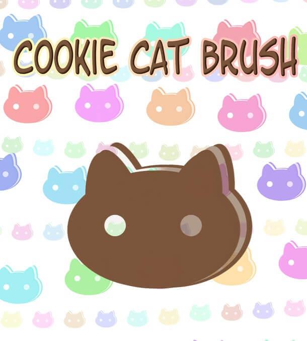 フォトショップ ブラシ Photoshop cat Kittie Brush 無料 イラスト 猫 キャット Cookie Cat