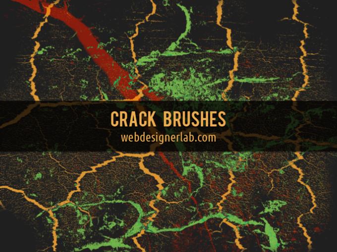 フォトショップ ブラシ Photoshop Brush 無料 イラスト クラック ひび割れ ヒビ 亀裂 Crack Brushes