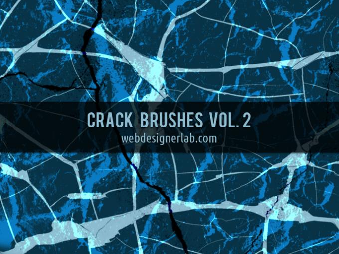 フォトショップ ブラシ Photoshop Brush 無料 イラスト クラック ひび割れ ヒビ 亀裂 Crack Brushes Vol. 2
