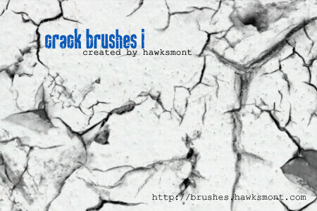 フォトショップ ブラシ Photoshop Brush 無料 イラスト クラック ひび割れ ヒビ 亀裂 壁 Crack Brushes I
