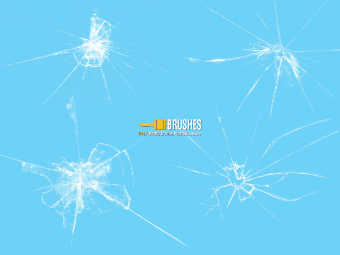 フォトショップ ブラシ Photoshop Brush 無料 イラスト クラック ひび割れ ヒビ 亀裂 ガラス Cracked Glass